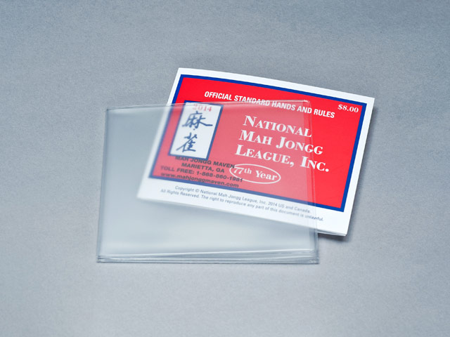 photo relating to Mahjong Card Printable named Plastic Mah Jongg Card Protect